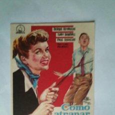 Folhetos de mão de filmes antigos de cinema: PROGRAMA DE CINE - COMO ATRAPAR UN MARIDO - SIN PUBLICIDAD - NUEVO -. Lote 43997955