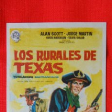 Cine: LOS RURALES DE TEXAS, IMPECABLE SENCILLO ORIGINAL, ALAN SCOTT JORGE MARTÍN, SIN PUBLICIDAD. Lote 44016841