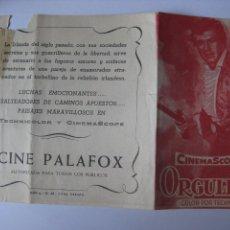 Cine: ORGULLO DE RAZA - PROGRAMA DOBLE ROCK HUDSON. Lote 44051078