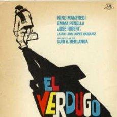 Cine: EL VERDUGO.- PROGRAMA SENCILLO REVERSO SIN IMPRIMIR. JOSE ISBERT. Lote 44088330