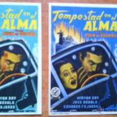 Cine: N1º-LOTE 233-- PROGRAMA DE CINE--TEMPESTAD EN EL ALMA. Lote 44110199