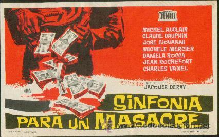 SINFONÍA PARA UNA MASACRE (Cine - Folletos de Mano - Suspense)