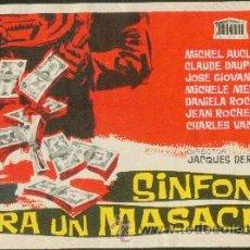 Cine: SINFONÍA PARA UNA MASACRE. Lote 44193960