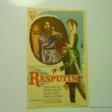 Flyers Publicitaires de films Anciens: PROGRAMA RASPUTIN.- CHRISTOPHER LEE. Lote 44208899