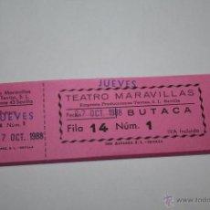 Cine: LOTE O TACO DE 69 ENTRADAS DEL CINE TEATRO VILLAMARTA JEREZ 1988. Lote 44259443