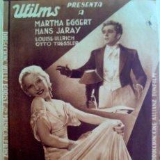 Cine: VUELAN MIS CANCIONES-PROGRAMA DOBLE-MÚSICA FRAANZ SHUBERT-SALA EDISON FIGUERAS FEBRERO 1934. Lote 44326427
