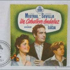 Cine: PROGRAMA DOBLE DE CINE - UN CABALLERO ANDALUZ - CARMEN SEVILLA - PUBLICIDAD AL DORSO- 11,5 X 10,5 CM. Lote 44337967