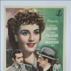 Foglietti di film di film antichi di cinema: PROGRAMA DE CINE - SENDA IGNORADA - PUBLICIDAD AL DORSO - 13,5 X 9 CM. Lote 44338143