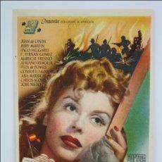 Foglietti di film di film antichi di cinema: PROGRAMA DE CINE - NOCHE SIN CIELO - PUBLICIDAD AL DORSO - 13,5 X 9 CM. Lote 44338187
