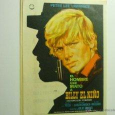 Cine: PROGRAMA EL HOMBRE QUE MATO A BOLLY EL NIÑO.- PETE LEE LAWRENCE--MONTERROSA REUS. Lote 44346665