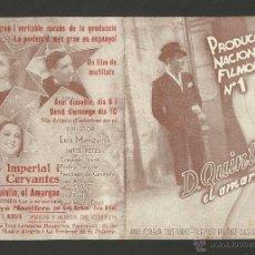 Cine: QUINTIN EL AMARGAO - DOBLE - CINE IMPERIAL Y CERVANTES - (C-1463). Lote 44420938