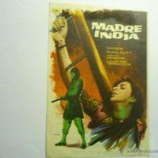 Cine: PROGRAMA MADRE INDIA.-PUBLICIDAD. Lote 44431412
