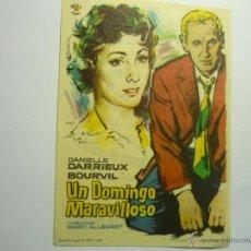 Cine: PROGRAMA UN DOMINGO MARAVILLOSO .-DANIELLE DARRIEUX.- GRAN CINEMA SANTANDER???. Lote 44431687