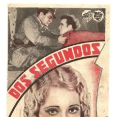 Flyers Publicitaires de films Anciens: DOS SEGUNDOS, EDWARD G. ROBINSON, PRESTON FOSTER. Lote 44455948