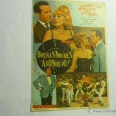 Foglietti di film di film antichi di cinema: PROGRAMA BUENAS NOCHES AÑO NUEVO¡ -RICARDO MONTALBAN. Lote 44648286