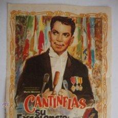 Cine: ANTIGUO FOLLETO CINE PELICULA SU EXCELENCIA CANTIFLAS - LA HOYA ELCHE, AÑOS 40-50. Lote 44649971