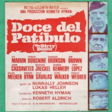 Cine: FOLLETO MANO - DOCE DEL PATIBULO - LEE MARVIN / E. BORGNINE / CH. BRONSON -DOBLE / FOTO - AÑOS 60 AT. Lote 44660560