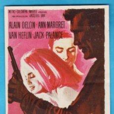 Cine: FOLLETO MANO - EL ULTIMO HOMICIDIO - ALAINE DELON / ANN MARGRET - CINE FEMINA (?) - AÑO 1965. Lote 228130220