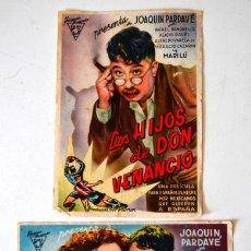 Cine: LOS HIJOS DE DON VENANCIO * 2 FOLLETOS DE MANO SIN PUBLICIDAD. Lote 44759073