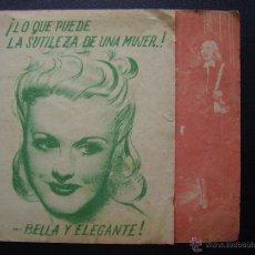Cine: ARDID FEMENINO, GINGER ROGERS, JAMES STEWART, CINE IMPERIAL, 1941. Lote 44761530