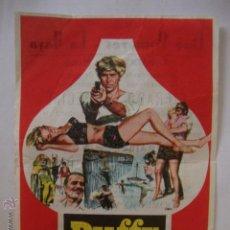 Cine: ANTIGUO PROGRAMA MANO DUFFY EL UNICO CINE POMARES LA HOYA ELCHE, AÑOS 60. Lote 44828806