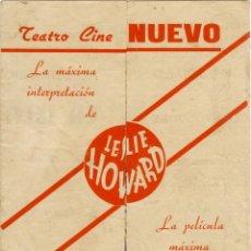Cine: PYGMALION - PROGRAMA DOBLE DE CINE BADALONA - C/P 1941 LESLIE HOWARD EJEMPLAR RARO. Lote 44835393