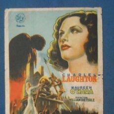 Foglietti di film di film antichi di cinema: PROGRAMA DE MANO . ESMERALDA LA ZÍNGARA , SIN PUBLICIDAD . . Lote 44876491
