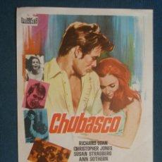 Cine: PROGRAMA DE MANO . CHUBASCO , SIN PUBLICIDAD .. Lote 44876565