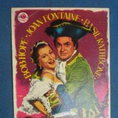 Foglietti di film di film antichi di cinema: PROGRAMA DE MANO . LA GRAN NOCHE DE CASANOVA, SIN PUBLICIDAD . ( VER FOTO ADICIONAL ). . Lote 44879371