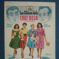Foglietti di film di film antichi di cinema: PROGRAMA DE MANO . LAS CHICAS DE LA CRUZ ROJA , SIN PUBLICIDAD . ( VER FOTO ADICIONAL ). . Lote 44887214