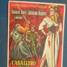 Cinema - Programa de Mano . EL CABALLERO DE LOS CIEN ROSTROS , Sin Publicidad . - 44903667