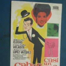 Cinema - PROGRAMA DE MANO . CASI UN CABALLERO, ALBERTO CLOSAS ,SIN PUBLICIDAD . ( VER FOTO ADICIONAL ). - 44903725