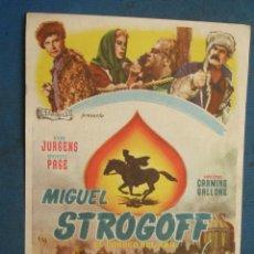 Foglietti di film di film antichi di cinema: PROGRAMA DE MANO . MIGUEL STROGOFF , SIN PUBLICIDAD . ( VER FOTO ADICIONAL ). . Lote 44903822