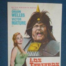 Foglietti di film di film antichi di cinema: PROGRAMA DE MANO . LOS TARTAROS, SIN PUBLICIDAD . ( VER FOTO ADICIONAL ). . Lote 44906969