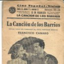 Cine: 6 TANGOS CANCIONERO DE LA CANCION DE LOS BARRIOS AÑO 1944. Lote 44909214