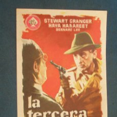 Foglietti di film di film antichi di cinema: PROGRAMA DE MANO . LA TERCERA LLAVE , SIN PUBLICIDAD . . Lote 44911487