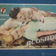 Cine: PROGRAMA DE MANO . ACOSADOS , CON PUBLICIDAD . . Lote 44926859