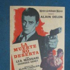 Cine: PROGRAMA DE MANO . LA MUERTE NO DESERTA , CON PUBLICIDAD . . Lote 44926896