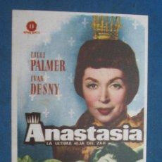 Flyers Publicitaires de films Anciens: PROGRAMA DE MANO . ANASTASIA , CON PUBLICIDAD . . Lote 44929600