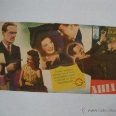 Cine: ANTIGUO FOLLETO MANO DOBLE Y ORIGINAL LA MUCHACHA DEL MILLON AÑO 1946 ELCHE SALONES BABEL ALICANTE. Lote 44936703