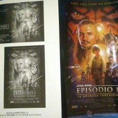 Cine: FOLLETO DE MANO STAR WARS EPISODIO I - LA AMENAZA FANTASMA. Lote 44951418