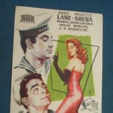 Foglietti di film di film antichi di cinema: PROGRAMA DE MANO . NO MIREIS A LAS CHICAS , CON PUBLICIDAD . ( VER FOTO ADICIONAL ). . Lote 44952724