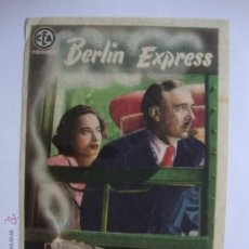 Cine: ANTIGUO FOLLETO MANO PROGRAMA BERLIN EXPRESS, IDEAL AVENIDA ELCHE, AÑOS 40/50. Lote 44966213