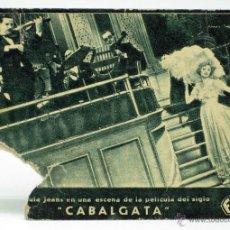 Cine: PROGRAMA TARJETA MANO FOX CABALGATA URSULA JEANS AÑOS 30 CINEMA CERVANTES. Lote 44967151