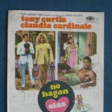 Flyers Publicitaires de films Anciens: PROGRAMA DE MANO . NO HAGAN OLAS . SIN PUBLICIDAD . . Lote 44993071