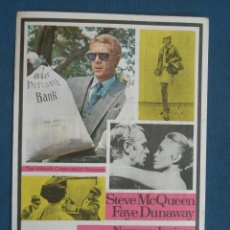 Flyers Publicitaires de films Anciens: PROGRAMA DE MANO . EL CASO THOMAS CROWN . CON PUBLICIDAD .( VER FOTO ADICIONAL ). . Lote 44993372
