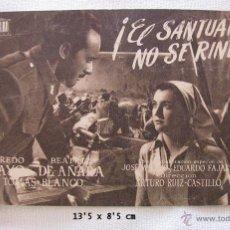 Cine: FOLLETO DE MANO EL SANTUARIO NO SE RINDE ESTRENO. Lote 45019345