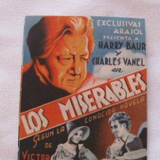 Cine: FOLLETO DE CINE LOS MISERABLES JORNADA 1 CINE ROCIO TRIANA SEVILLA. Lote 45021697