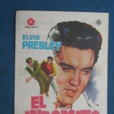 Flyers Publicitaires de films Anciens: PROGRAMA DE MANO . EL INDOMITO . CON PUBLICIDAD .( VER FOTO ADICIONAL ). . Lote 45028861