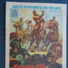 Folhetos de mão de filmes antigos de cinema: PROGRAMA CINE . COMBATE DE GIGANTES , CON PUBLICIDAD , CINE DE MATARÓ - VER FOTO ). . Lote 45030295